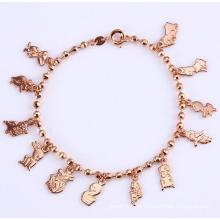 Xuping Rose cor de ouro pulseira de bebê (71828)