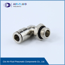 Air Fluid Metal Push in Fittings Swivel  Elbow