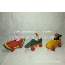 fábrica directa de madera tallada niños pequeños coches de juguete