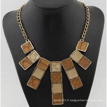 Petits colliers carrés Collier en forme de serpent de mode Colliers en alliage FN119