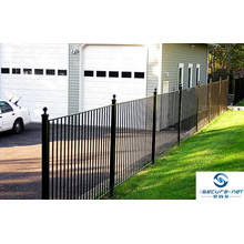 Two Rails Picket Metal Fence