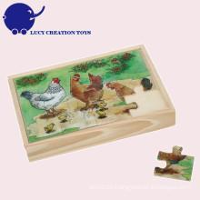 Kundenspezifisches pädagogisches Spielzeug-hölzernes Kinderpuzzlespiel