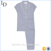 New arrival girly feel cotton night wears pajama lady sexy summer pajamas