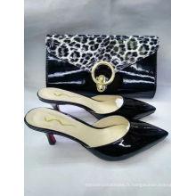 Nouveaux chaussons à talons hauts et sacs à main de mode (G-16)