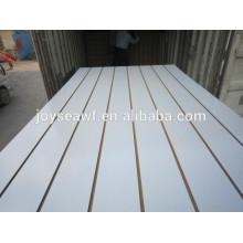 Tablero del mdf de la melta del solt con el artículo aluminio / ranurado la fabricación del tablero del mdf