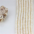 Natural Freshwater Loose Pearl Strands AAA Near Round White Loose Pearl String
