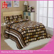 super macio flanela coral velo cobertor conjunto de cama