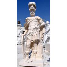 Escultura tallada en piedra de la estatua del soldado de mármol para la decoración del jardín (SY-X1311)