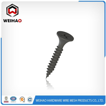 Black phosphated coarse thread drywall screw