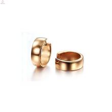 Boucles d'oreilles exotiques de mode, boucle d'oreille diapositive en or rose pour les femmes
