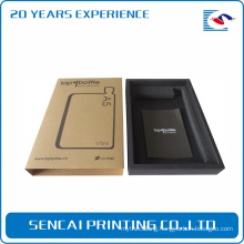 Customized Packaging Hard Transparent Brown Black Kraft Gift Box for Phone Case