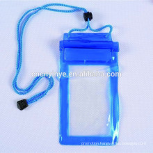 custom mobile phone pvc waterproof drawstring bag