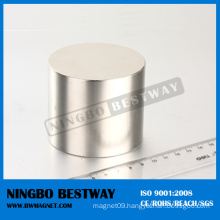 50mm NdFeB Cylinder Nickel Magnet N52