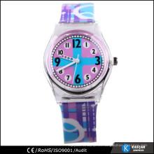 El reloj más nuevo del cabrito de la venda del silicón, reloj de la prueba del agua