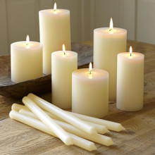 Big White Candles Pillar Candle White Church Candle