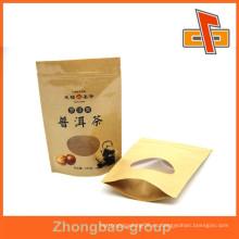 Acepte los bolsos del trullo de la orden de encargo, bolsos de té, 1kg bolsa de papel para el té