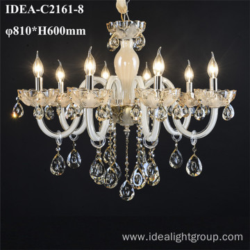 wrought iron chandelier lighting glass candle lamp