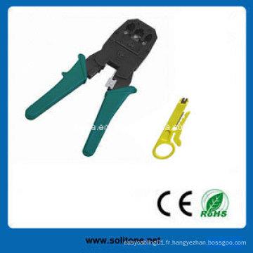 Outil de sertissage pour fiche modulaire RJ45 / Rj11