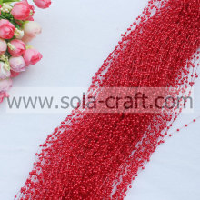 Chispas Garland perla Artificial de 3MM para el evento & Party Supplies rojo color