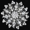 Cheap Fashion Flower Brooch Pins Alloy Rhinestone Women Brooches for wedding