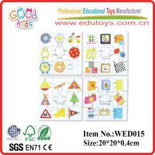 2015 formas educativas puzzles conjunto yunhe juguetes de madera