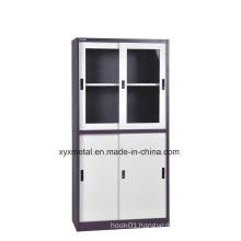 Metal File Cabinet, File Cabinet/ Drawer Cabinet with Sliding Glass Door
