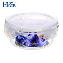 Bacia de armazenamento de vidro resistente ao calor Easylock para microondas