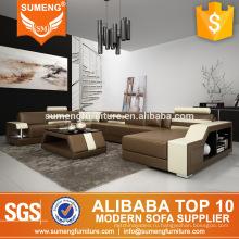 SUMENG египетском стиле гостиная мебель U-образный кожаный диван диван