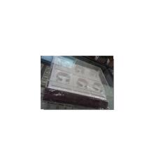 Эксклюзивный 6-полосный белый коричневый кожаный браслет для лотков для браслета (TY-6WS)