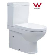 Sanitaires Ferblanterie Salle de bain Filigrane Toilette en céramique à deux pièces (558)