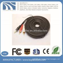 Kuyia Marke Großhandel Audio Video 3RCA Kabel 5m