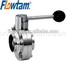 manual food grade stainless steel butterfly valve
