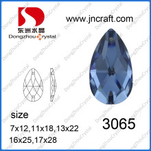 Teardrop Glass Stone for Sew on Garment Decoration