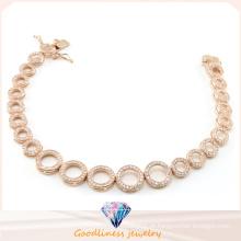 China Preço de Fábrica Atacado Moda Jóias Série de Pulseira de Círculo para Lady Gift 925 Sterling Silver Bracelet Bt6599