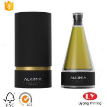 Boîte ronde de cadeau d'emballage de parfum de tube de papier