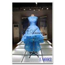 1A692 TiAmero спереди короткая длинная поезд sheer назад свадебные eveing платье