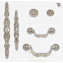 White Color Zinc Material Decorative Cabinet Handles