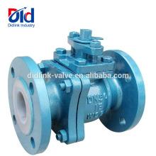 Válvula de bola de flotación de acero fundido din Din de Argu Pvc Wcb 150 lb fabricante