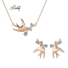 Soaring Dove Set Sparkling Crystal Fashion Women Wedding Jewelry Set