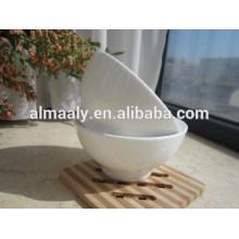 tazón de fuente de porcelana al por mayor, cuenco con base de cerámica