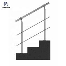 Barandilla de escalera de tubo de acero inoxidable duradero de fábrica