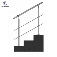 Factory Durable Stainless Steel Pipe Stair Handrail