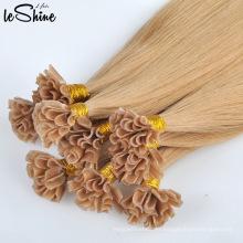 Extensiones de cabello del precio al por mayor indio 100% Remy doble queratina humana dibujada