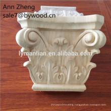Hand Carving timber corbels decorative post Wood Capitals