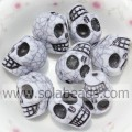 Hot Sale 14*18MM Goth Skull Colorful Beads Bulk