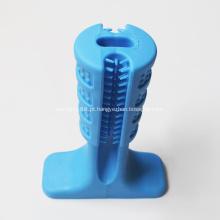 Cão de borracha atendimento odontológico brinquedos mastigar vara escova de dentes