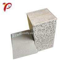 Instalación rápida fácil Panel de sándwich de fibra de cemento Eps a prueba de fuego