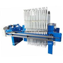 Prensa de filtro de membrana hidráulica automática con diseño especial de tela colgante de filtro
