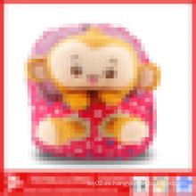Monkey peluche niños bolsas de escuela, mochila de escuela encantadora para niños