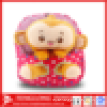 monkey plush toy kids school bags, lovely school backpack for kids